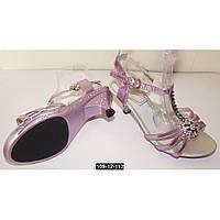 Нарядные детские босоножки для девочки, 30-36 размер, супинатор, кожаная стелька, туфли на выпускной