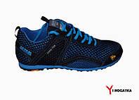 Подростковые кроссовки сетка и нубук синие