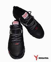 Подростковые кожаные кроссовки SPLINTER, черные с резинкой с логотипом фирмы