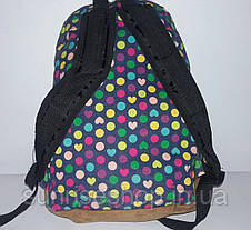 Рюкзак женский текстиль яркий горох, фото 2