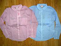 Котоновые рубашки на девочек оптом, Glo-story, 134-164 рр