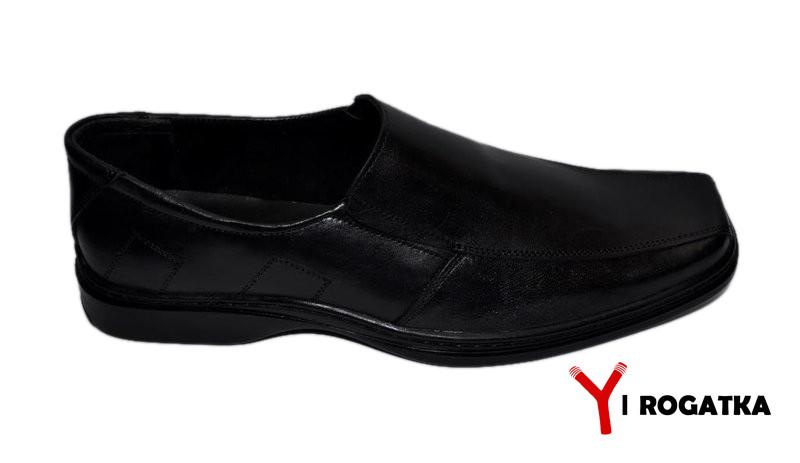 c1586a1b6 Мужские туфли комфорт великаны кожа черные - Интернет магазин обуви Rogatka  в Хмельницком
