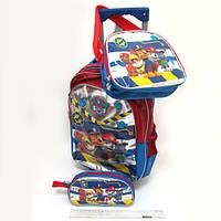Набор детский чемодан - рюкзак на колесах + сумка + пенал Paw patrol, Щенячий патруль 520341