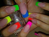 Цветные гели в дизайне ногтей