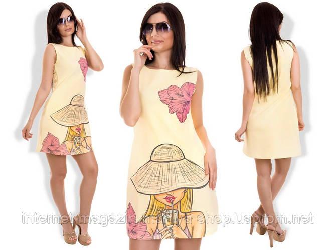 9e05cdbea097baf Платье женское 916 узор шляпа норма - купить по лучшей цене в Одессе ...