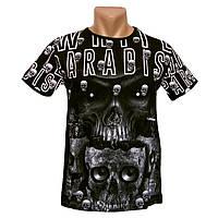 Прикольная мужская футболка White Paradise - №2228, Цвет черный