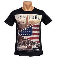 Мужская стильная футболка New York - №2234, Цвет черный