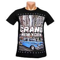 Мужская футболка Grand New York - №2240, Цвет черный