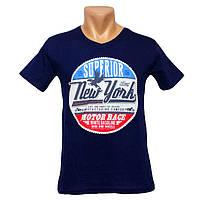 Лучшая мужская футболка New York - №2242, Цвет синий