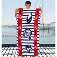 Мужское большое полотенце - №2253, Цвет разноцветный