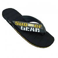 Шлепанцы для пляжа Super Gear - №2262, Цвет черный, Размер 41