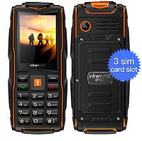 Водонепроницаемый телефон VKworld Stone V3 New на 3 sim карты
