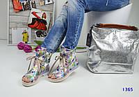 Стильные кожаные летние ботинки с открытым носком на шнуровке, белая абстракция