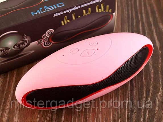 Колонка портативная Beats Mini X6 Розовая Bluetooth Mp3 MicroSD USB, фото 2