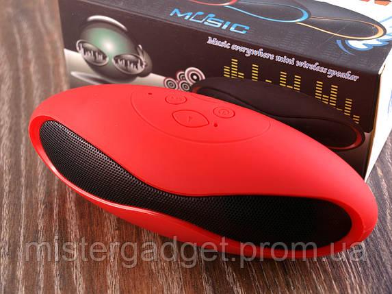 Колонка портативная Mini X6 Красная Bluetooth, фото 2