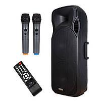 Акумуляторная колонка с радиомикрофонами A15-15 /300W (USB/Bluetooth/Аккуммулятор)