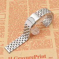 Браслет для часов из нержавеющей стали, литой, матовый. 22-й размер.