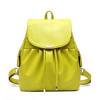 Женский городской рюкзак. Стильные женские рюкзаки в четырех цветах: красный, черный, бежевый, синий, желтый., фото 1