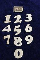 Цифры деревянные 0-9. Заготовка для Бизиборда по методике Монтессори