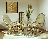 Кресло-качалка из ротанга Бриз, фото 3