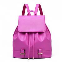 Женский городской рюкзак. Стильные женские рюкзаки в четырех цветах: красный, черный, бежевый, синий, желтый. Розовый