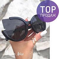 Женские черные очки солнцезащитные 2017 / женские круглые очки, солнечные, черные