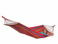 Гамак тканевый 200x120 см до 150 кг хлопок, гамак туристический тканевый, гамаки тканевый