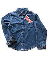 Джинсовая рубашка на девочку Woody 1