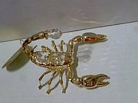 Скорпион(Юнион) декоративный металлический с кристаллами AR-3911