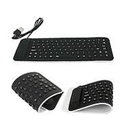 Силиконовая клавиатура 106 клавиш USB (русский+английский)