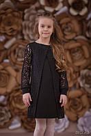 Школьная платье  Кружево Зиронька 6562-1, цвет черный