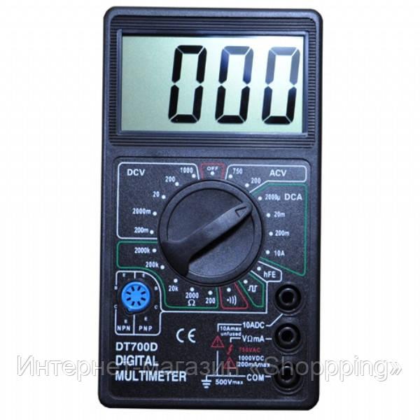 Мультиметр DT 700D, тестер мультиметр, измерительные приборы мультиметры, цифровой мультиметр dt - Интернет-магазин «Shoppping» в Днепре