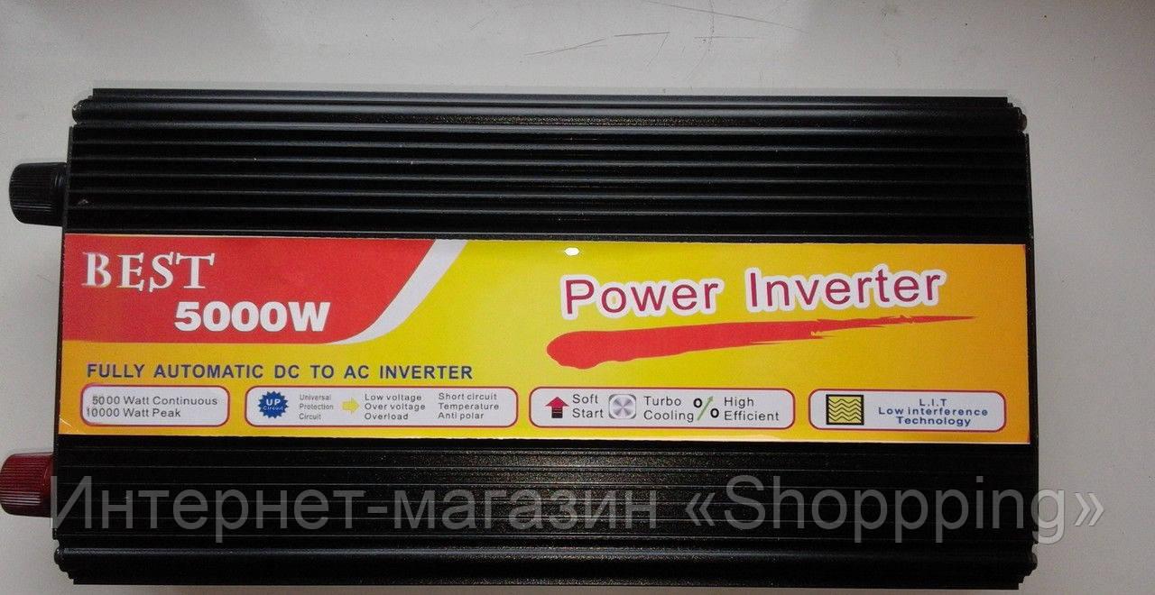 Преобразователь напряжения, инвертор 5000W inverter 12V-220V - Интернет-магазин «Shoppping» в Днепре