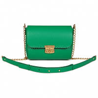 Женская кожаная сумка через плечо Katerina Fox зеленого (изумруда) цвета из натуральной кожи (KF-714)