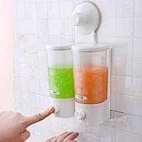 Дозатор для жидкого мыла Soap Dispenser double liquid - двухбаковый настенный