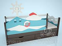 """Кровать детская """"Катерок"""" венге. Ольха, , фото 1"""