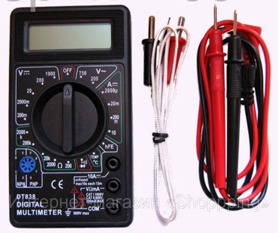 Цифровой мультиметр DT-838, тестер мультиметр цифровой, многофункциональный мультиметр dt 838 digital  - Интернет-магазин «Shoppping» в Днепре