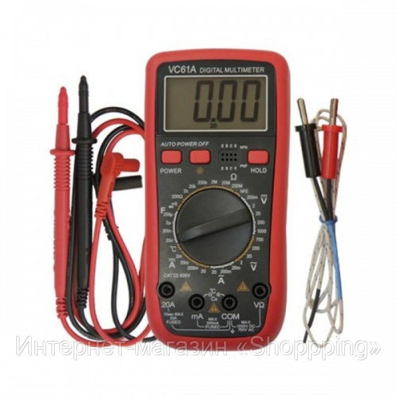 Мультиметр цифровой DT VC 61А, тестер цифровой мультиметр, многофункциональный мультиметр - Интернет-магазин «Shoppping» в Днепре