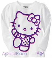 OldNavy Футболка с длинным рукавом белая - Hello Kitty