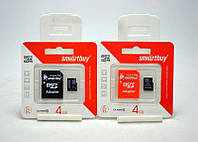 Карта памяти Micro SD 4 Gb 4 класс, карта памяти на 4 гб SmartBuy, карта sd micro