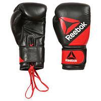 Кожаные перчатки для единоборств Reebok Leather Training Glove12oz BG9378 - 2017