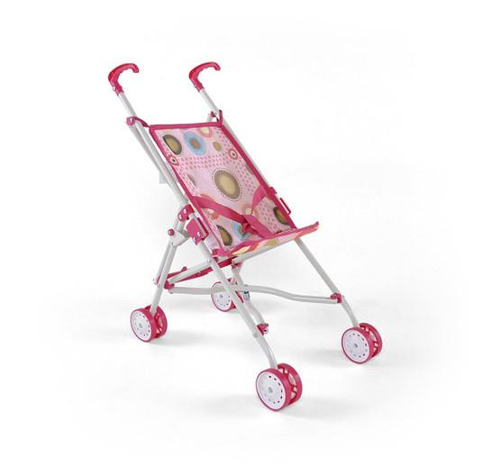 Коляска для кукол Julka (розовый(Pink), с коричневым(Brown))
