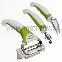 Набор ножей для чистки (и фигурной) овощей и фруктов - Triple Slicer 3 в 1