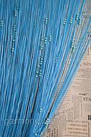 Нитяные шторы  ЛАПША ЖЕМЧУГ голубой (11)