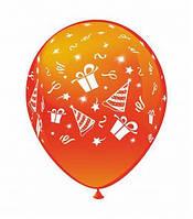 """Воздушные шарики Праздник шелкография микс 12"""" (30 см)  ТМ Show"""