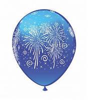 """Воздушные шарики Фейерверк шелкография микс 12"""" (30 см)  ТМ Show"""