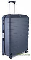 Дорожный чемодан из полипропилена на 4-х колесах (большой) Roncato Box 5541 серого цвета