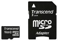 Карта памяти Transcend microSDHC 16 GB Class 10 (+ адаптер SD)
