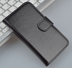 Кожаный чехол-книжка для Meizu Mx2 черный