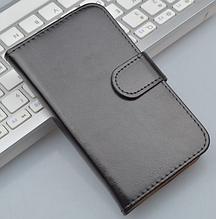 Кожаный чехол-книжка для Sony Xperia L S36h C2105 C2014 черный